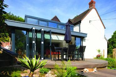 Bi-folding doors are easy to operate