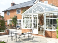 Conservatory on house